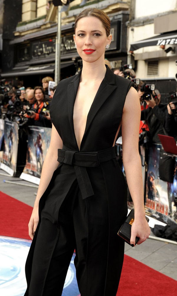 Instyle Cover Star Rebecca Hall Wows On Red Carpet For Iron Man 3