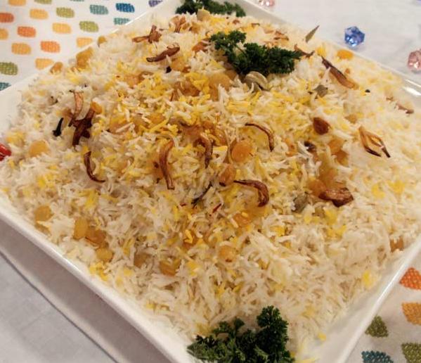أرز بخاري بالزبيب