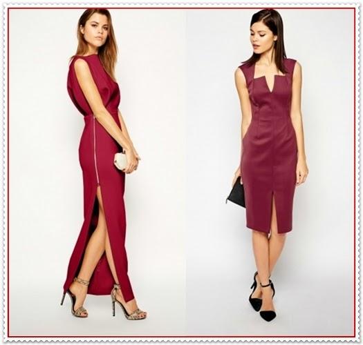 14 herrliche Weinrote Kleider Kombination