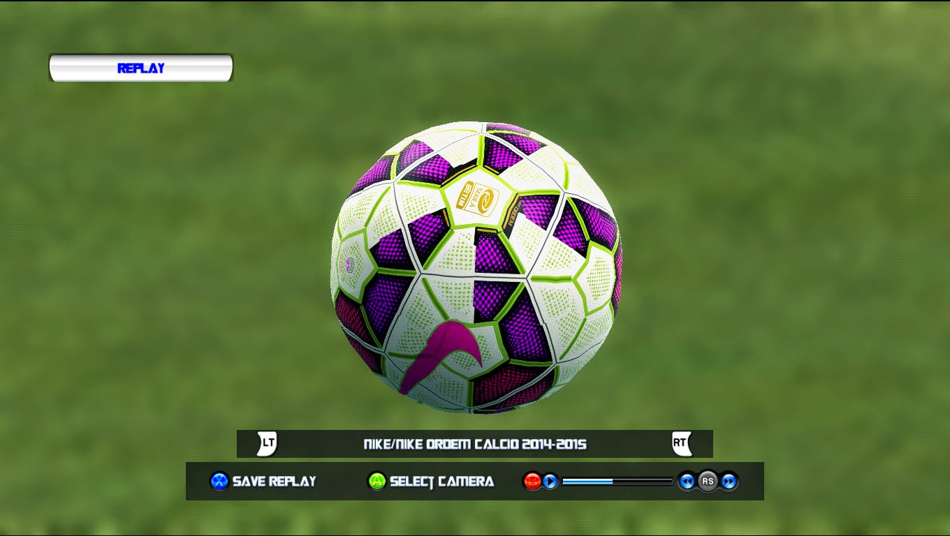 PES 013 NIKE ORDEM 2 Calcio Serie A 14/15 Ball by Tanapon