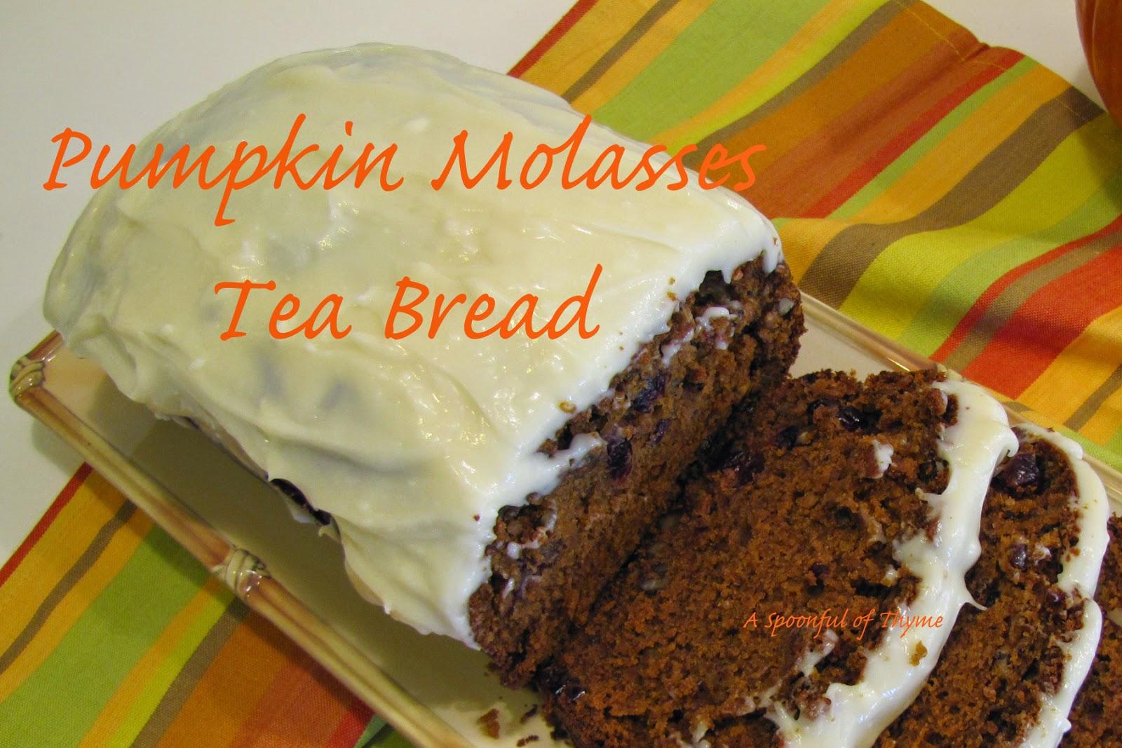 pumpkin molasses tea bread