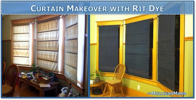 Curtain Makeover with Rit Dye