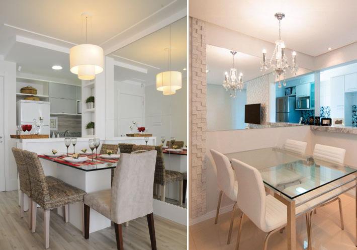 Construindo minha casa clean salas de jantar pequenas for Mesa de cafe pequena sala de estar