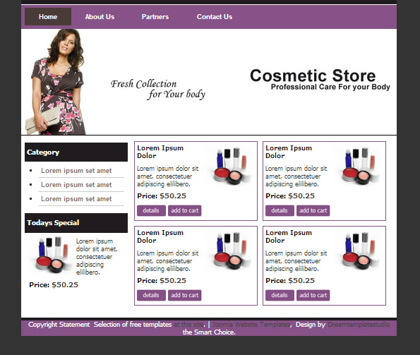 Ecommerce Site Name : Cosmetic Store