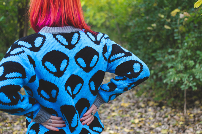 alien sweater,