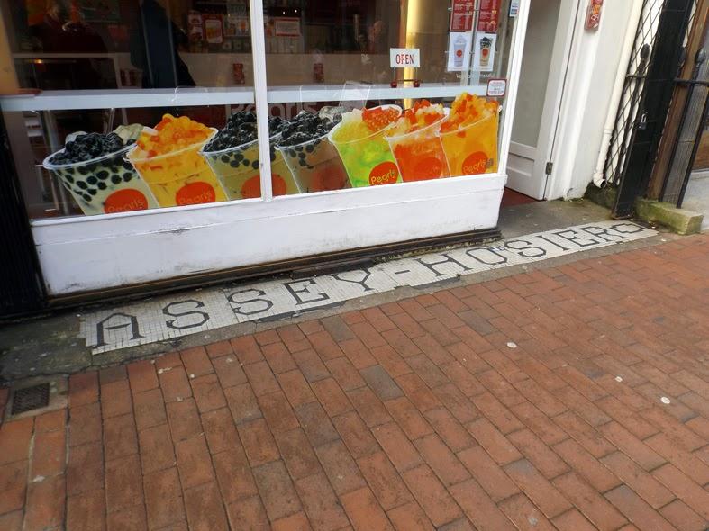 cassey hosiers shop mosaic gardner street brighton