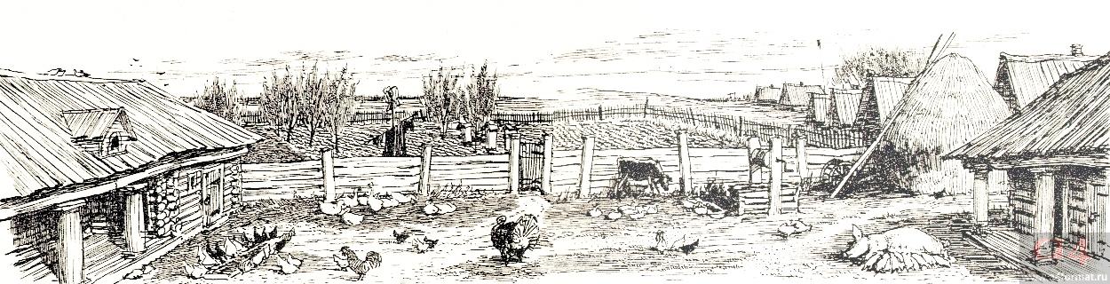 Схема усадьбы помещика