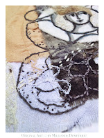 """ She who Keeps a Nest in Waiting '  SWHO 3 :: ORIGINAL ART FOR SALE by contemporary mixed media artist Milliande Demetriou, Shop at http://artstudioblog.milliande.com, #art #textiles #unrulyclothcanvas"