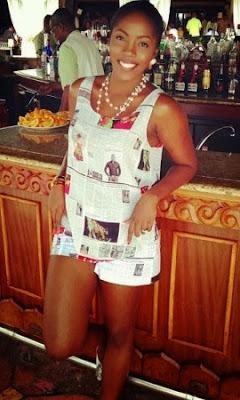 tiwa savage newspaper outfit