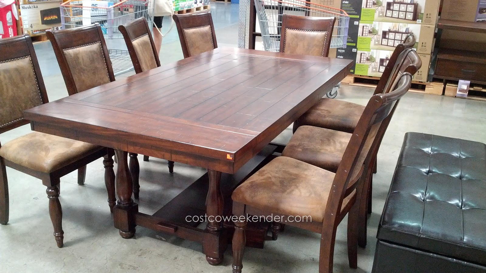 Hillsdale tremonte 9 piece dining set costco weekender - Costco dining room set ...