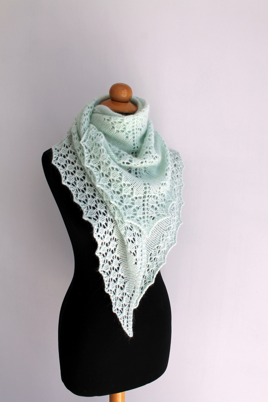 Knitted Shawl Patterns Free : Silver Lining Knits: Free Pattern - June Bunnies Shawl