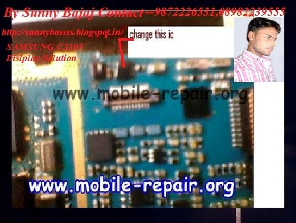 Samsung C3303i Display Light Jumper
