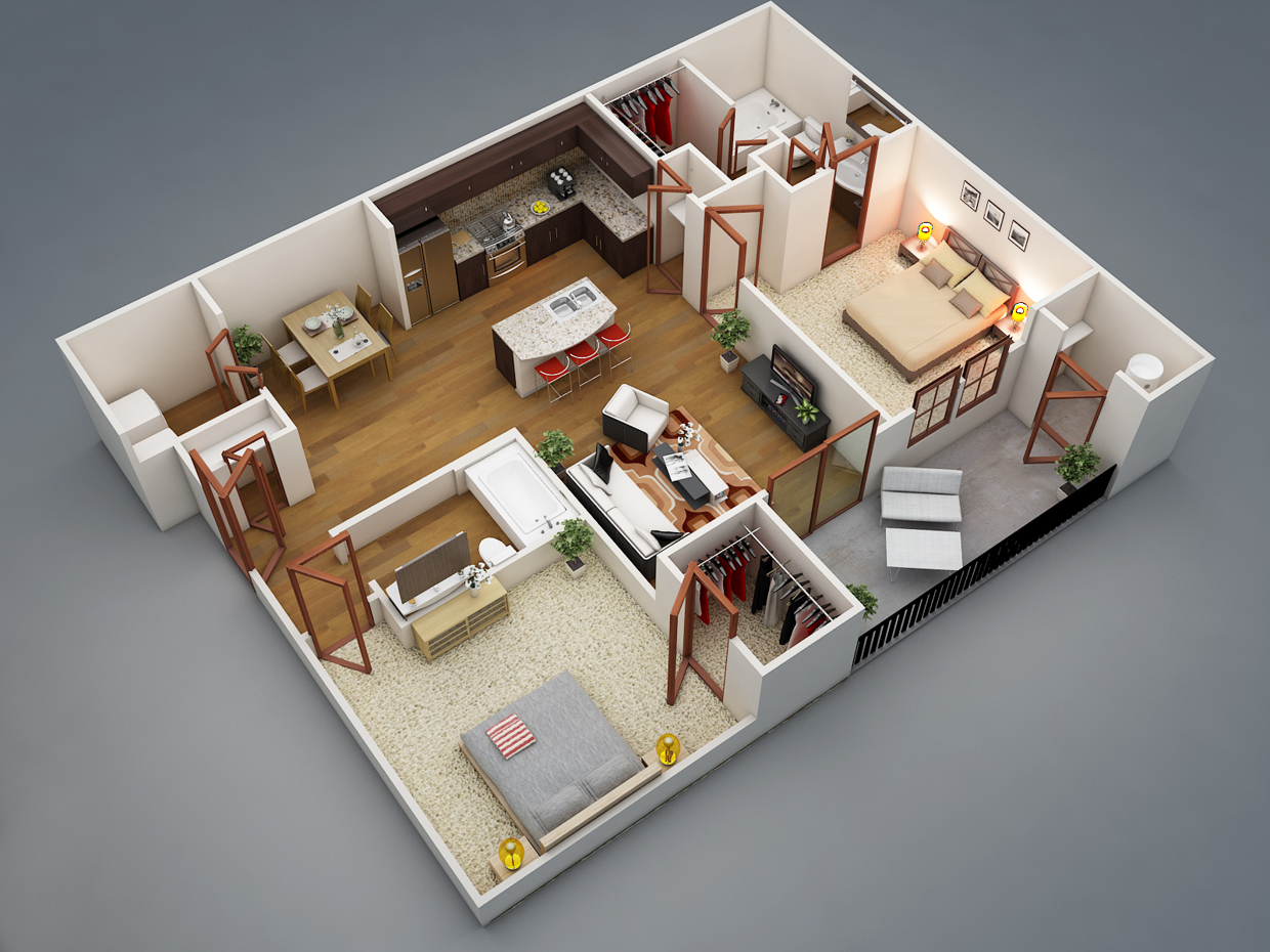 1 Bedroom Home Designs Part - 43: Rishabh Kushwaha