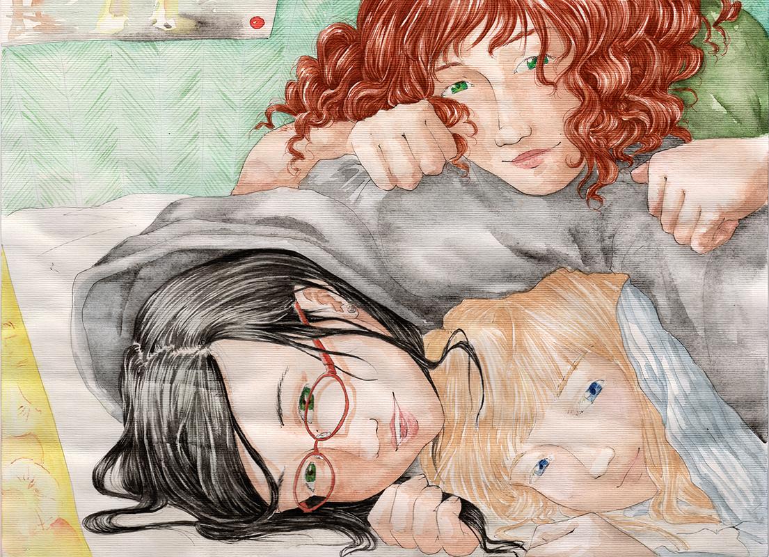 Squatt entre filles - illustration de Chronopulp