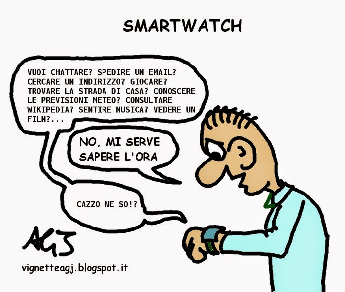 smartwatch, tecnologia, umorismo, applewatch, vignetta