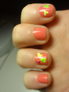 neon hearts on sally hansen coral reef