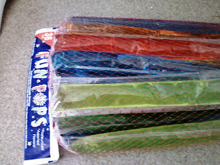 Popsicles in a plastic net bag