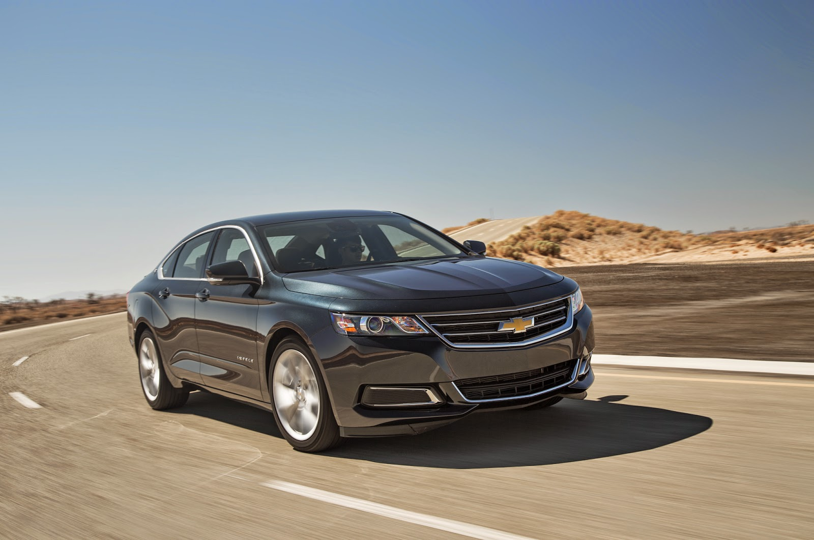 2014 chevrolet impala on the road