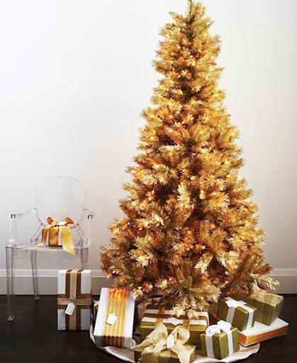 златна елха украса
