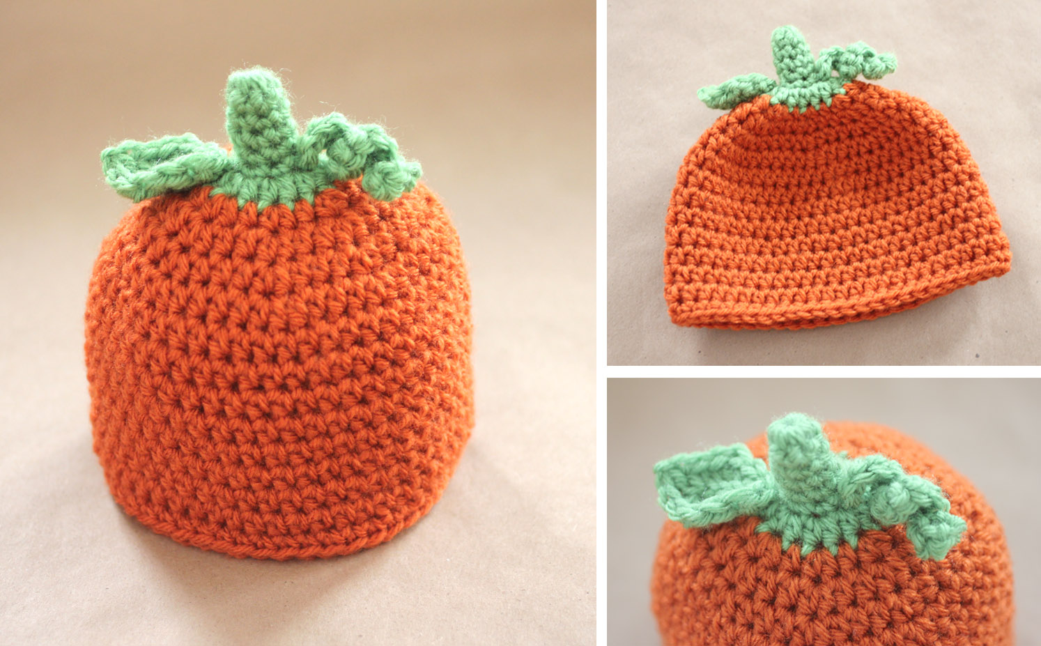 Crochet Pumpkin Hat Pattern and GIVEAWAY! - Repeat Crafter Me