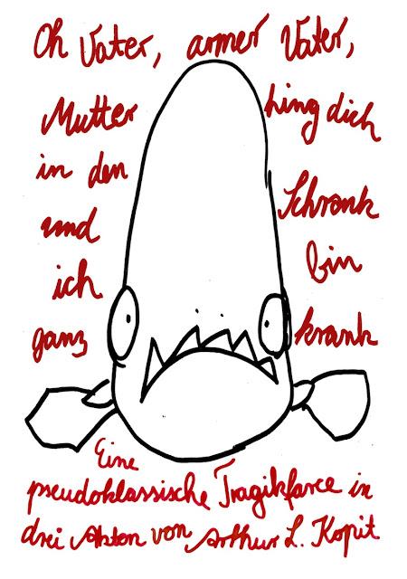 Illustration Kinderbuch Fisch Piranha