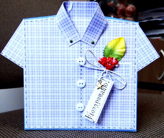 Открытки в виде рубашки 11