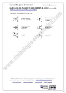 Símbolos de transistores mosfet e igfet 2/2