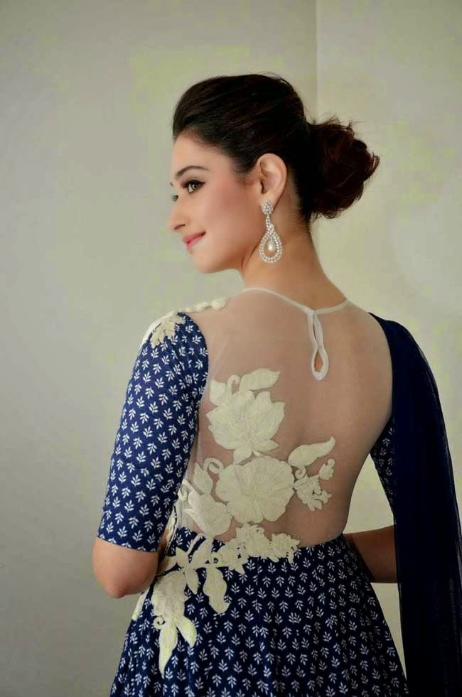 Tamanna Bhatia In Sheer Back Neck Anarkali
