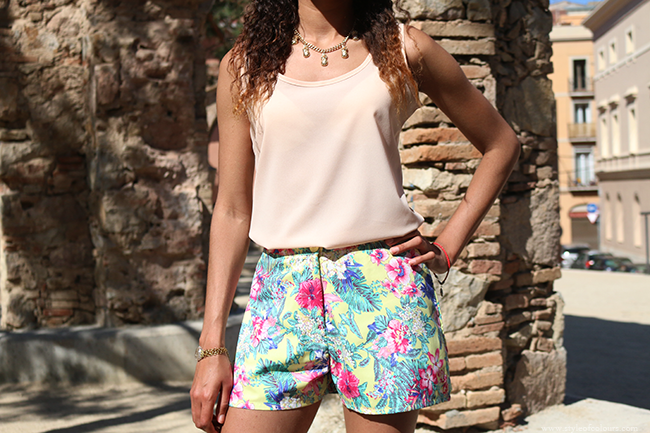 Styling floral shorts