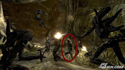 Alien vs. Predator video game - female character