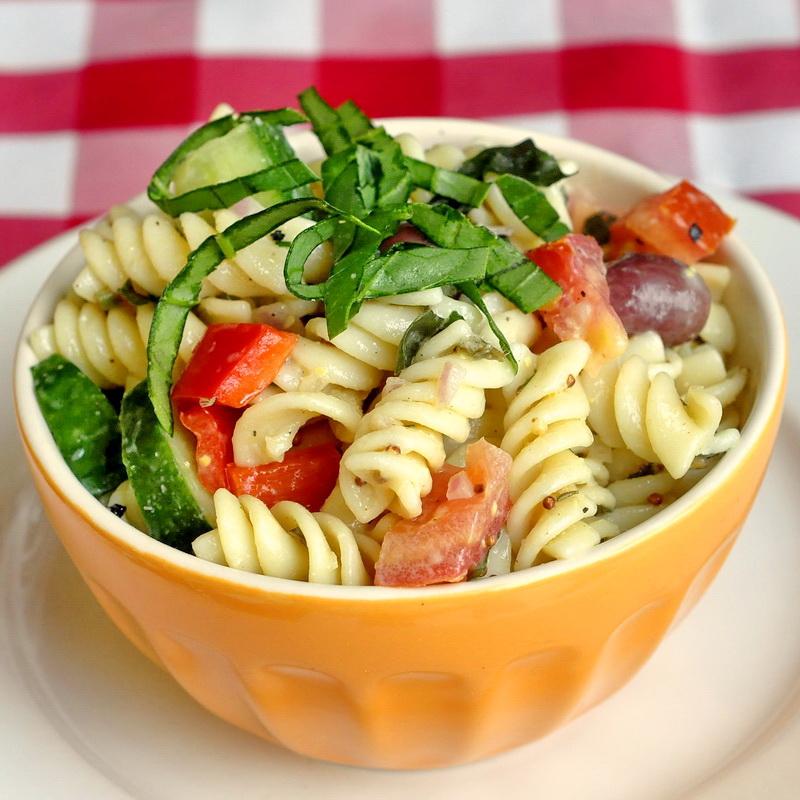 Garden Pasta Salad with Lemon Dijon Dressing - Rock Recipes -The Best ...