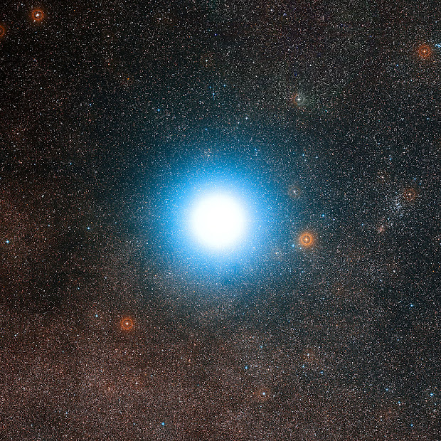 Alpha Centauri and its surroundings
