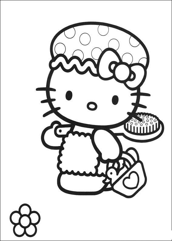 Hellokitty a colorier