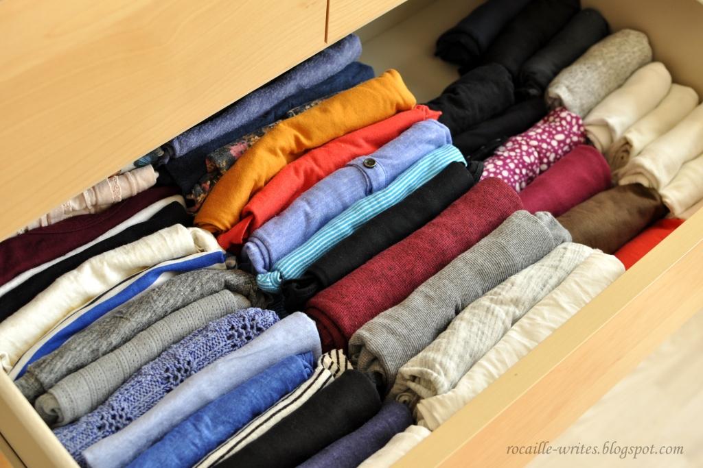 Konmari drawers click for details the konmari method roll up tights