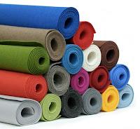Tecidos de feltro coloridos