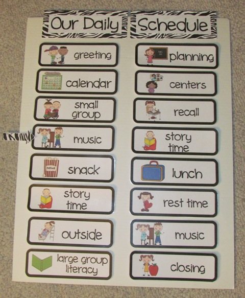 Dramatic image with regard to free printable daily schedule pictures for preschool