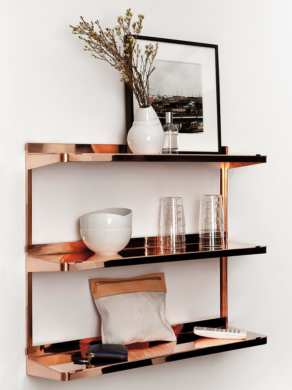Copper shelves