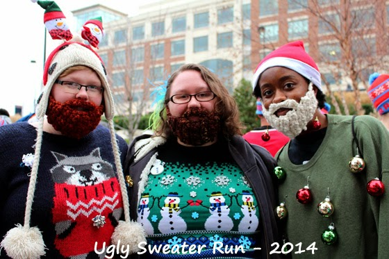 People at the ugly sweater run in DC
