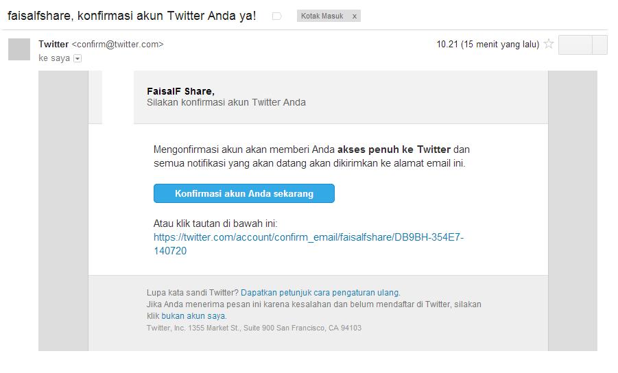 verifikasi akun twitter melalui email
