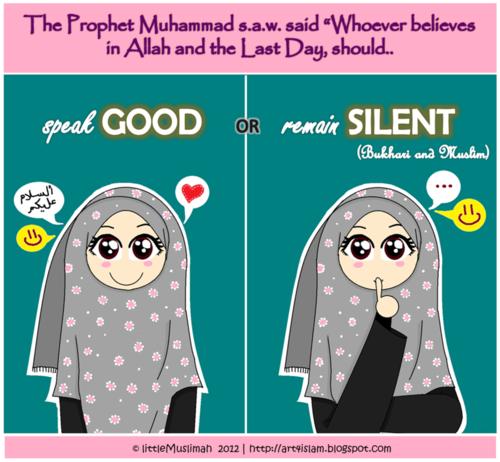 Jika Tidak Dapat Berbicara Baik Lebih Baik Diam