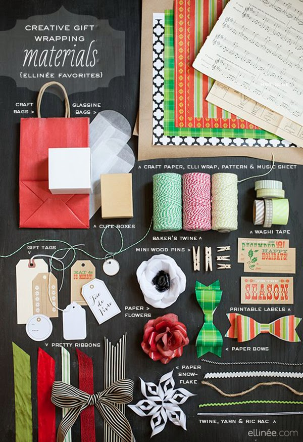 Creative gift wrap materials from Elinee