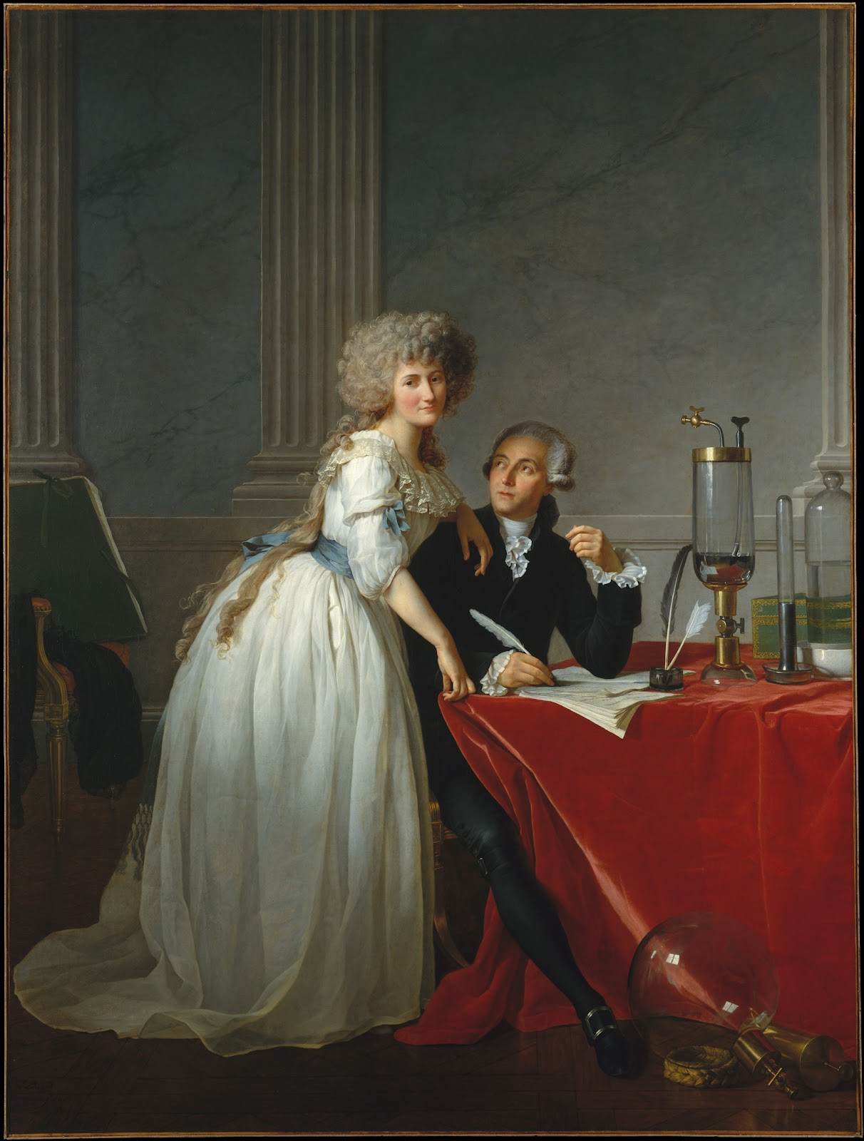 Portrait of Antoine Laurent and Marie Anne Lavoisier. 1788. 256 x 195 cm