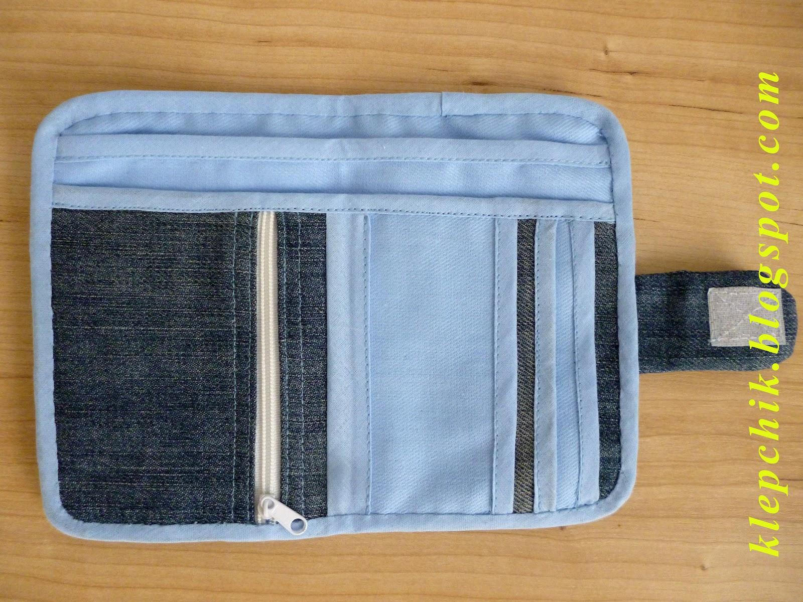 Сшить кошелек из старых джинсов