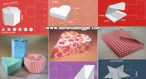 Crea cajas decorativas gratis usando plantillas de Template Maker