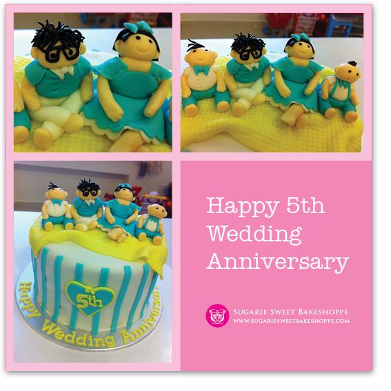 Sugarie Sweet Bakeshoppe: Happy 5th Wedding Anniversary