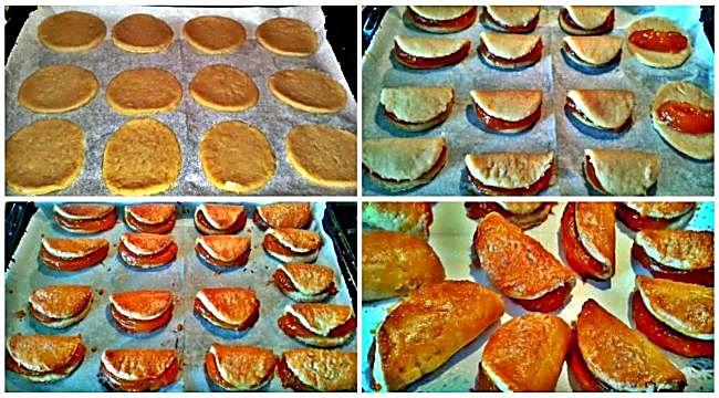 Preparación de los pastissets rellenos de crema de calabaza