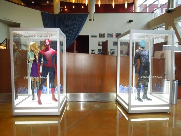 Amazing Spider-man 2 movie costume exhibit