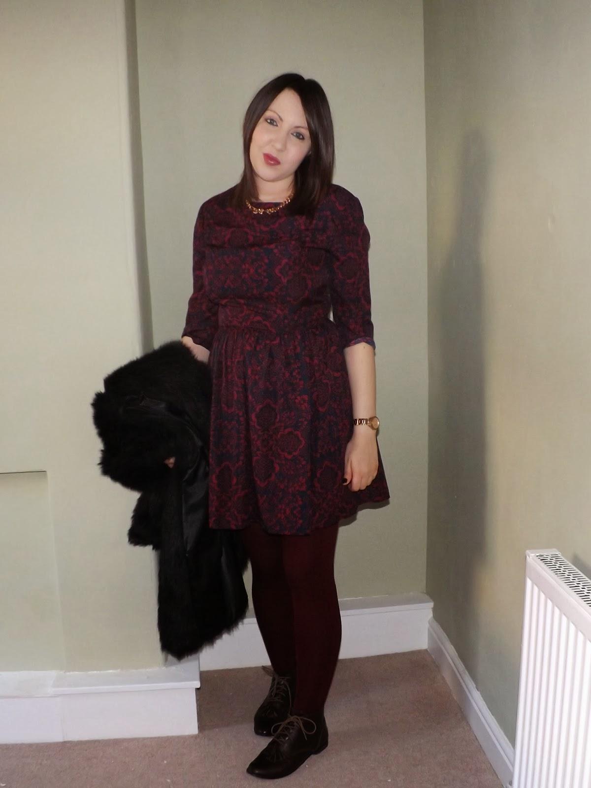 Black Leather Look Split Skirt