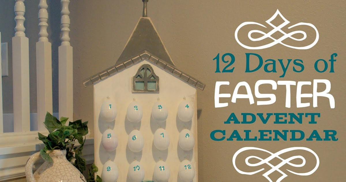 Wood you like to craft 12 days of easter advent sassy for What day does easter fall on this year