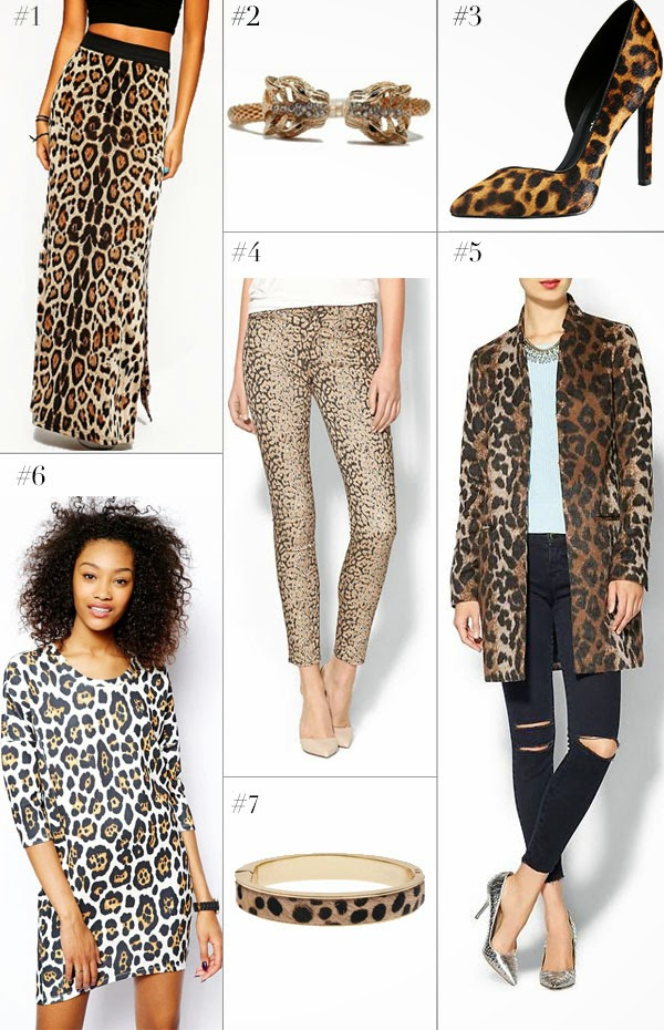 Asos, Piperlime, t+j Designs leopard bracelets